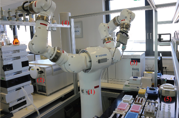 Automated Sample Preparation Using a Dual-Arm Robotic Platform ...