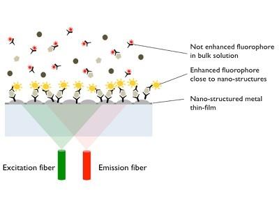 Highly Sensitive, Single Step - No Wash Fluorescence Immunoassays based on Plasmonic Nano-Structures